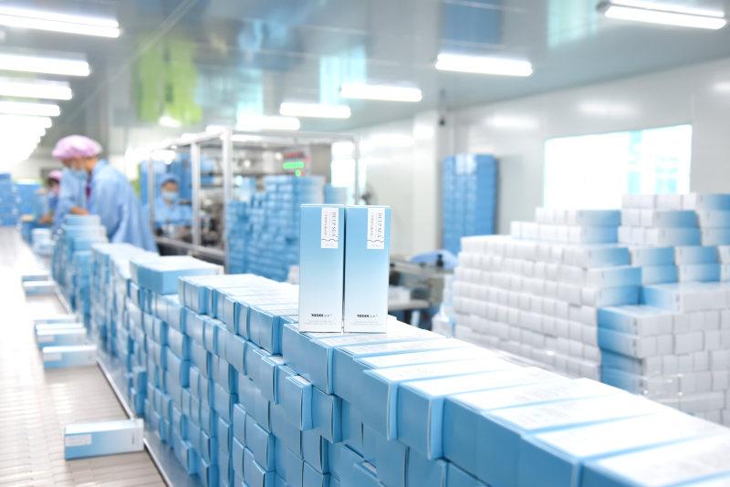 蜜都·深海美肌焕肤系列 十万级GMP药用工厂生产线照片